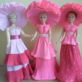 Новый наряд для куклы Барби. Мастер-класс «Платье из гофрированной бумаги».
