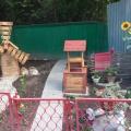 «Деревенский уголок» на участке в детском саду