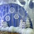 Новогоднее оформление музыкального зала в детском саду