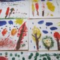 «Лес точно терем расписной!» Конспект занятия по рисованию в нетрадиционной технике в разновозрастной группе детей 6–7 лет