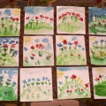 План— конспект по рисованию в средней группе «Красивые цветы на лужайке»