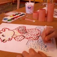 Фотоотчет «Рисуем в технике— пуантилизм»