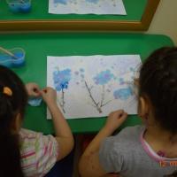 Фотоотчет «Рисование с помощью клея ПВА и соли»