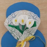 Букет цветов «Каллы». Детский мастер-класс