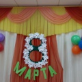 Оформление музыкального зала к Международному женскому Дню 8 марта