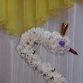 Композиция из цветов «Царевна— лебедь»