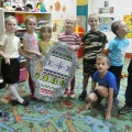 Новогодняя варежка. Коллективная работа детей подготовительной группы.