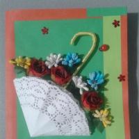 Конспект занятия в рамках кружка «Бумажные истории» для детей старшей группы «Самый главный— праздник мам»