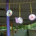 Поделки из дисков на веранду в детском саду 48
