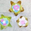 Мастер-класс «Горшочки с цветами для украшения стола (из салфеток и пластиковых бутылок)»