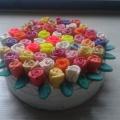 Мастер-класс «Цветочный торт из пластилина»