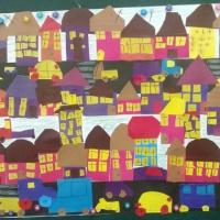 Конспект занятия по коллективной аппликации в старшей группе «Дома на нашей улице»