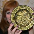 Мастер-класс по росписи тарелки «Мотивы хохломской росписи. Кудрина»