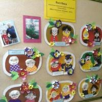 Фотоотчет о выставке детских работ по художественной аппликации в технике «портретный коллаж» к Дню пожилого человека