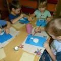 ОД по рисованию (нетрадиционная техника) для детей младшей группы «Снеговик»