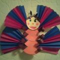 Мастер-класс «Бабочка из цветной бумаги»