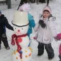 Конспект зимней развивающей прогулки «Снеговик»