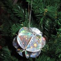Мастер-класс «Новогодний шар из кругов»