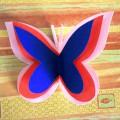 Мастер-класс «Объёмная бабочка» из цветной бумаги
