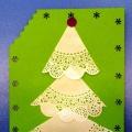 Мастер-класс. Простая поздравительная открытка «С Новым годом!»