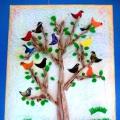 Мастер-класс коллективной аппликации из бумаги «К нам весна шагает, птиц в наш сад зазывает!»