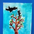 Фото отчет художественного творчества по тематической неделе «Пернатые соседи и друзья» в разновозрастной группе.