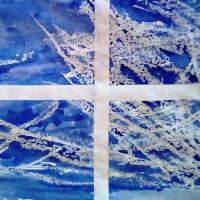 Рисование нетрадиционным способом (свечой) с элементами аппликации «Узоры на стекле»