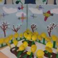 Макет «В ожидании весны», изготовленный детьми средней группы
