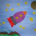Коллективная работа «Мы на звёздочки глядим, на планету полетим» (первая младшая группа)