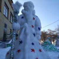 Оформление участка «Сказка из снега»