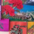 Аппликация «Танк» из кусочков цветной бумаги для детей средней группы к празднику «День Защитника Отечества»