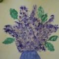 Конспект НОД по продуктивной деятельности «Сирень в вазе» (рисование нетрадиционным способом— мятой бумагой)
