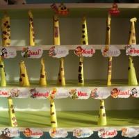 Детский мастер-класс по созданию поделки из цветной бумаги «Жираф»