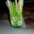 Ваза для ромашек (Модульное оригами)