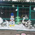Новогоднее оформление участка в детском саду «Зимняя сказка для детей»