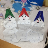 Детский мастер-класс «Снеговики» для зимнего панно