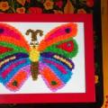 Поделка в технике торцевания из крепированной цветной бумаги «Веселая бабочка»