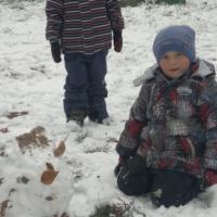 Фотоотчет «А у нас первый снег!»