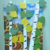 Рисование красками «Золотая осень». Фотоотчет.