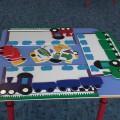 Дидактическая игра по ИЗО «Цветные паровозики»