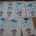 Конспект занятия по рисованию в нетрадиционной технике в первой младшей группе «Дождик, дождик, лей!»