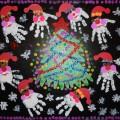 Коллективная работа «Возле ёлочки танцуют Дедушки Морозики». Детское новогоднее творчество