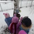 Развивающая прогулка с детьми первой младшей группы «Встреча со снеговиком»