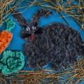 Кролик «Серж». Аппликация из ваты
