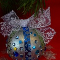 Шарики для ёлочки от малышей. Детское Новогоднее творчество