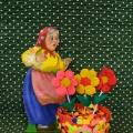 «Букетик в вазе»— подарок для бабушки. Мастер-класс