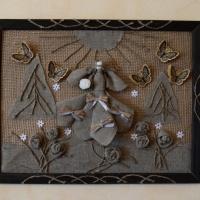 Мастер-класс «Картина из мешковины в стиле рустик»