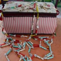 Мастер-класс поделки из коктейльных трубочек «Бусы для бабуси»
