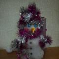 Мастер класс: новогодняя игрушка из бросового материала «Снеговик на коньках»