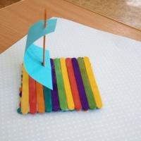 Мастер-класс «Кораблик из деревянных палочек»